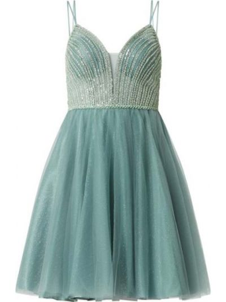 Sukienka koktajlowa tiulowa - zielona Swing