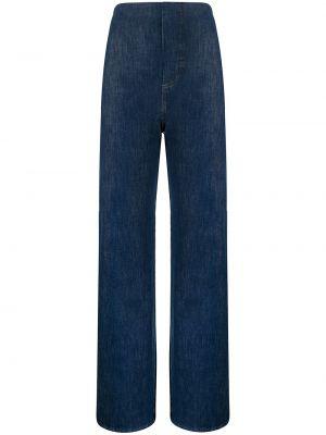 Широкие джинсы с завышенной талией - синие Manning Cartell