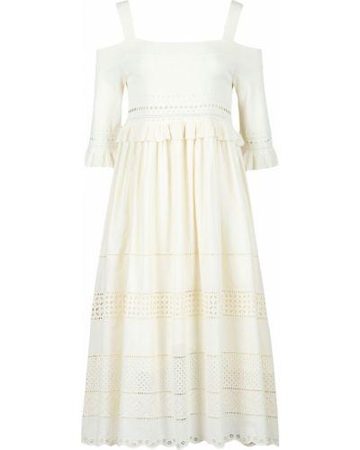 Платье миди с поясом из вискозы Twin-set