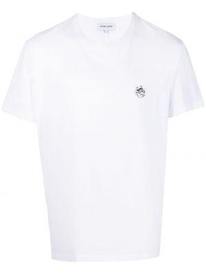 Biały t-shirt bawełniany krótki rękaw Maison Labiche