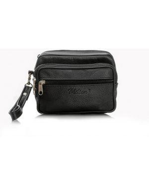 Czarna torebka duża skórzana oversize Milton