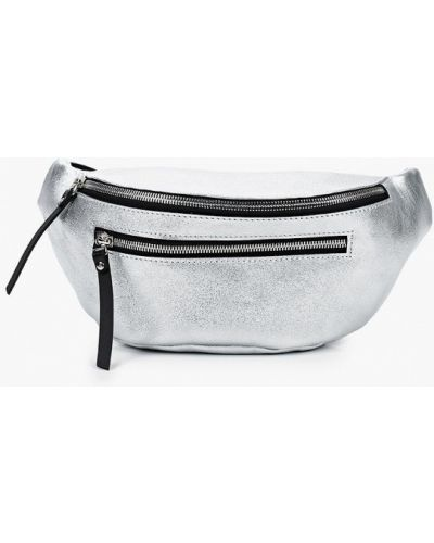 Серебряная поясная сумка из натуральной кожи Asya Malbershtein