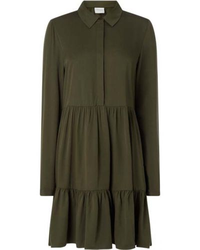 Zielona sukienka rozkloszowana z wiskozy Vila
