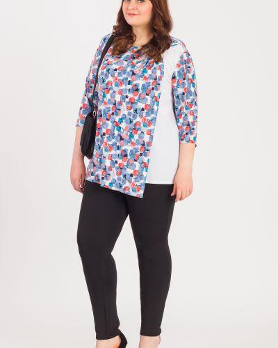 Блузка прямая айвори Lacy_plus