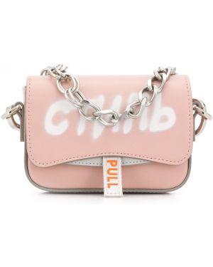 Розовая сумка на цепочке Heron Preston