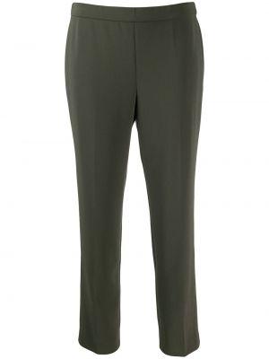 Зеленые укороченные брюки с поясом узкого кроя без застежки Theory