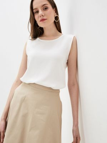 Блузка без рукавов белая весенний Incity