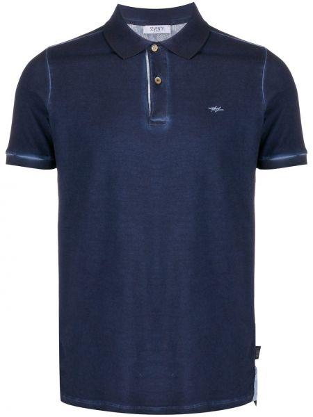 Koszula krótkie z krótkim rękawem z logo z kołnierzem Seventy