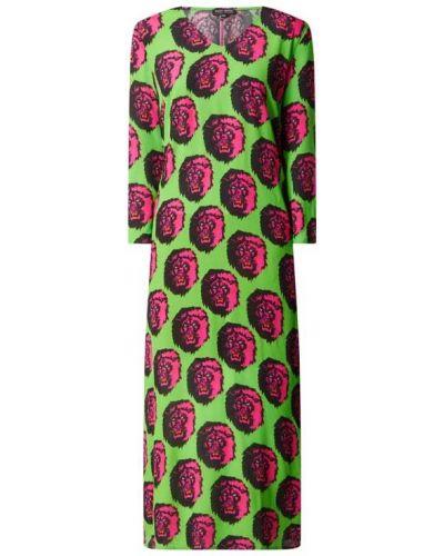 Zielona sukienka rozkloszowana z wiskozy Risy & Jerfs