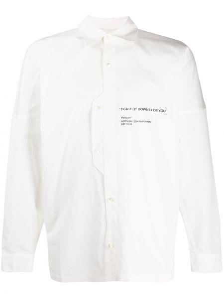 Biała klasyczna koszula bawełniana z długimi rękawami Poliquant