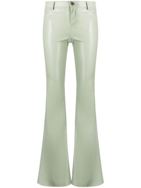 Классические брюки расклешенные - зеленые Alice+olivia