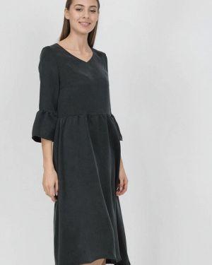 Платье серое прямое Raimaxx