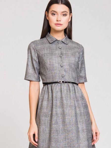 Платье серое платье-рубашка Luisa Wang