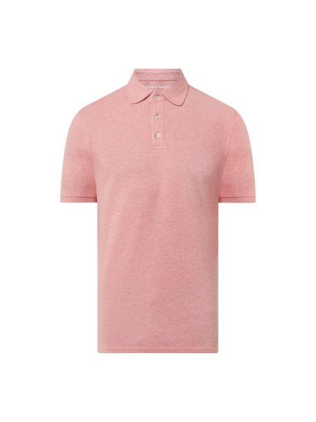 Różowy t-shirt bawełniany Bruun & Stengade
