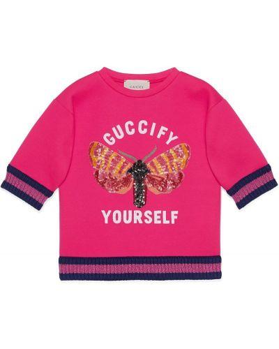 Толстовка розовый Gucci Kids
