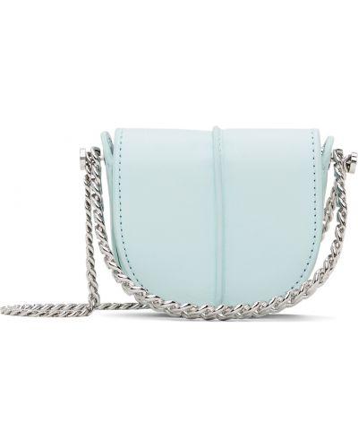 Torebka na łańcuszku srebrna - niebieska Kara