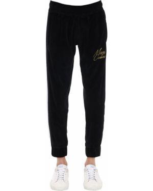 Czarne spodnie w paski Minimal