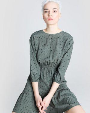 Платье мини в горошек с поясом Ostin