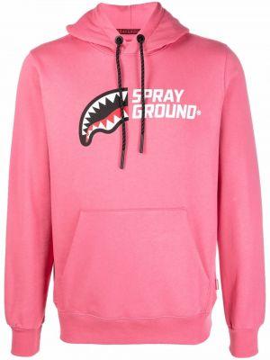 Розовая хлопковая худи Sprayground