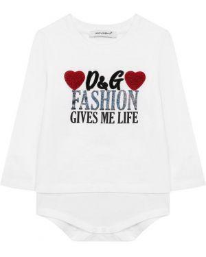 Боди белый Dolce & Gabbana