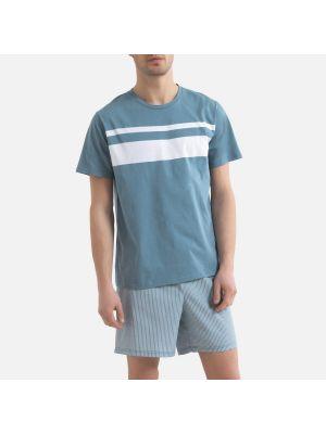 Хлопковая пижама с шортами в полоску с короткими рукавами Laredoute