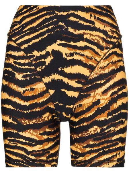 Нейлоновые облегающие черные спортивные шорты Adam Selman Sport