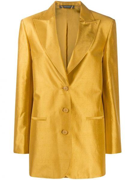 Свободная с рукавами желтая куртка Alberta Ferretti