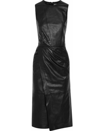 Czarna sukienka skórzana Iris & Ink
