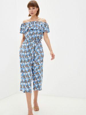 Комбинезон с шортами - голубой Gloss
