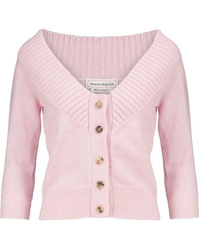 Розовый кашемировый кардиган винтажный Alexander Mcqueen