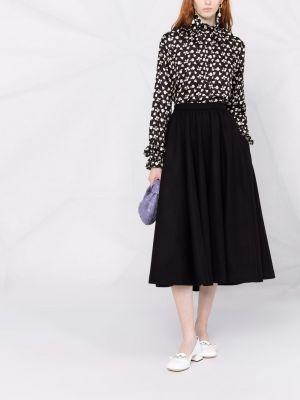 Шерстяная юбка - черная Rochas
