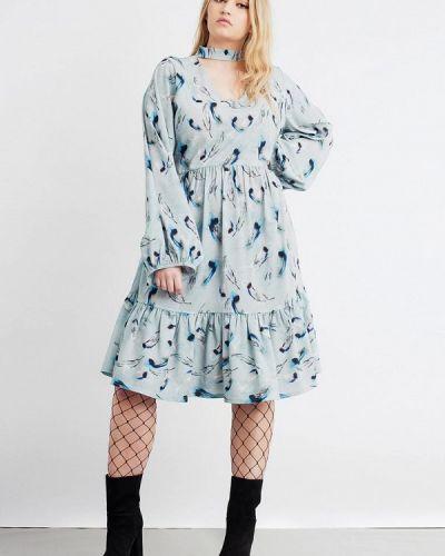 Платье осеннее Lost Ink Plus
