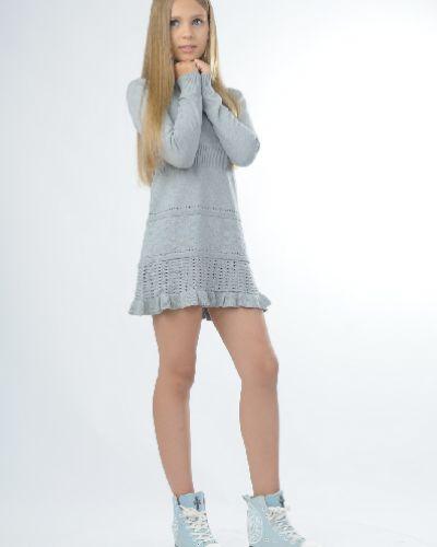 Летнее платье серое вязаное Vitacci