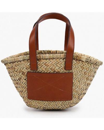 Бежевая соломенная сумка Mango Kids