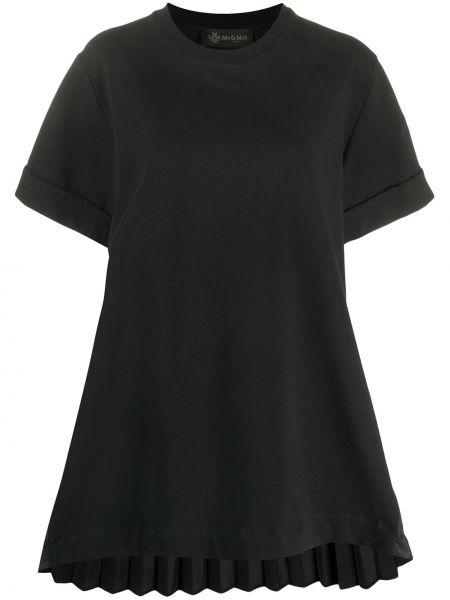 Платье мини футболка черное Mr & Mrs Italy