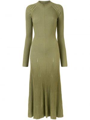 Платье миди в рубчик - зеленое Dion Lee