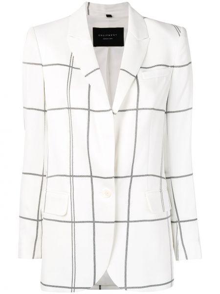 Белый пиджак с воротником с карманами из вискозы Equipment