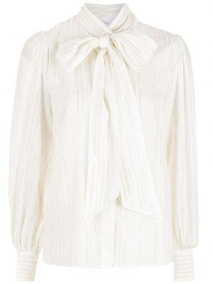 Белая блузка с бантом с люрексом НК