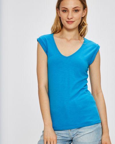 Синяя футбольная футболка с вырезом Miss Poem