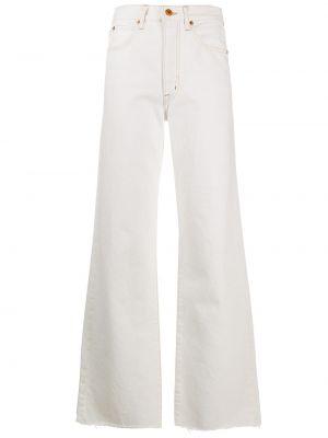 Белые свободные джинсы свободного кроя на молнии Slvrlake