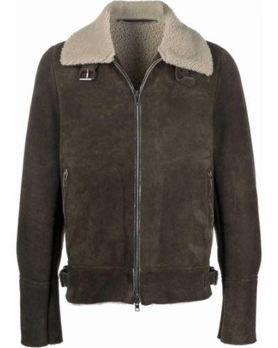 Кожаная куртка длинная - бежевая Salvatore Santoro