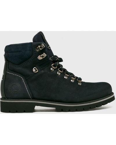 Кожаные ботинки из нубука на шнуровке Panama Jack