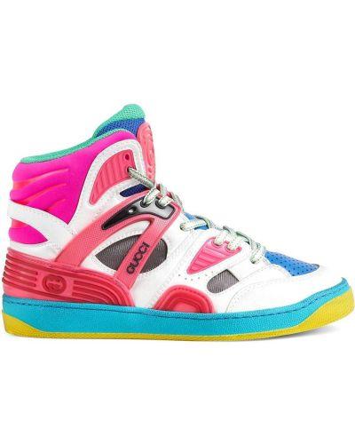 Sneakersy wysokie - białe Gucci