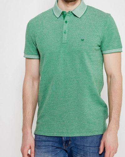 Зеленое поло Wrangler