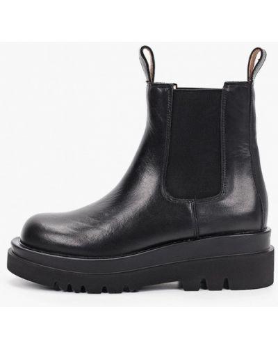 Черные кожаные ботинки челси Grand Style