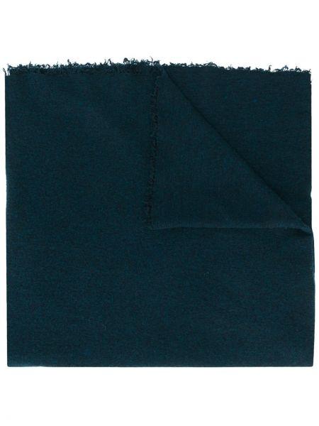 Jedwab niebieski szalik przycięte Faliero Sarti