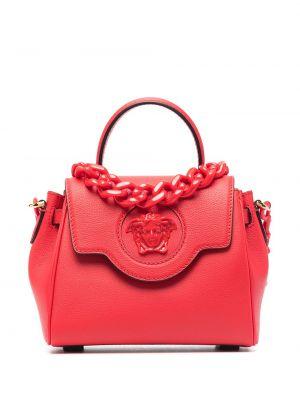 Кожаная сумка - красная Versace