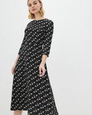 Повседневное платье черное весеннее Lilove