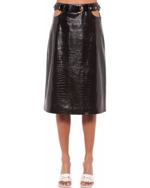 Кожаная юбка миди - черная Dodo Bar Or