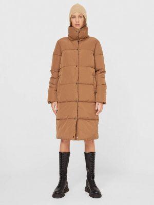 Коричневая утепленная куртка Stradivarius